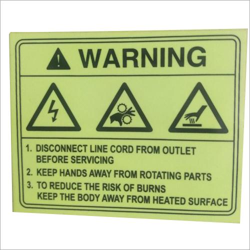 Warning Night Glow Sticker