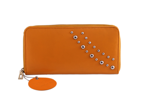 Ladies Leather Zip Closure Wallet
