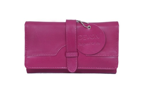 Ladies Flap Closure Threefold Wallet