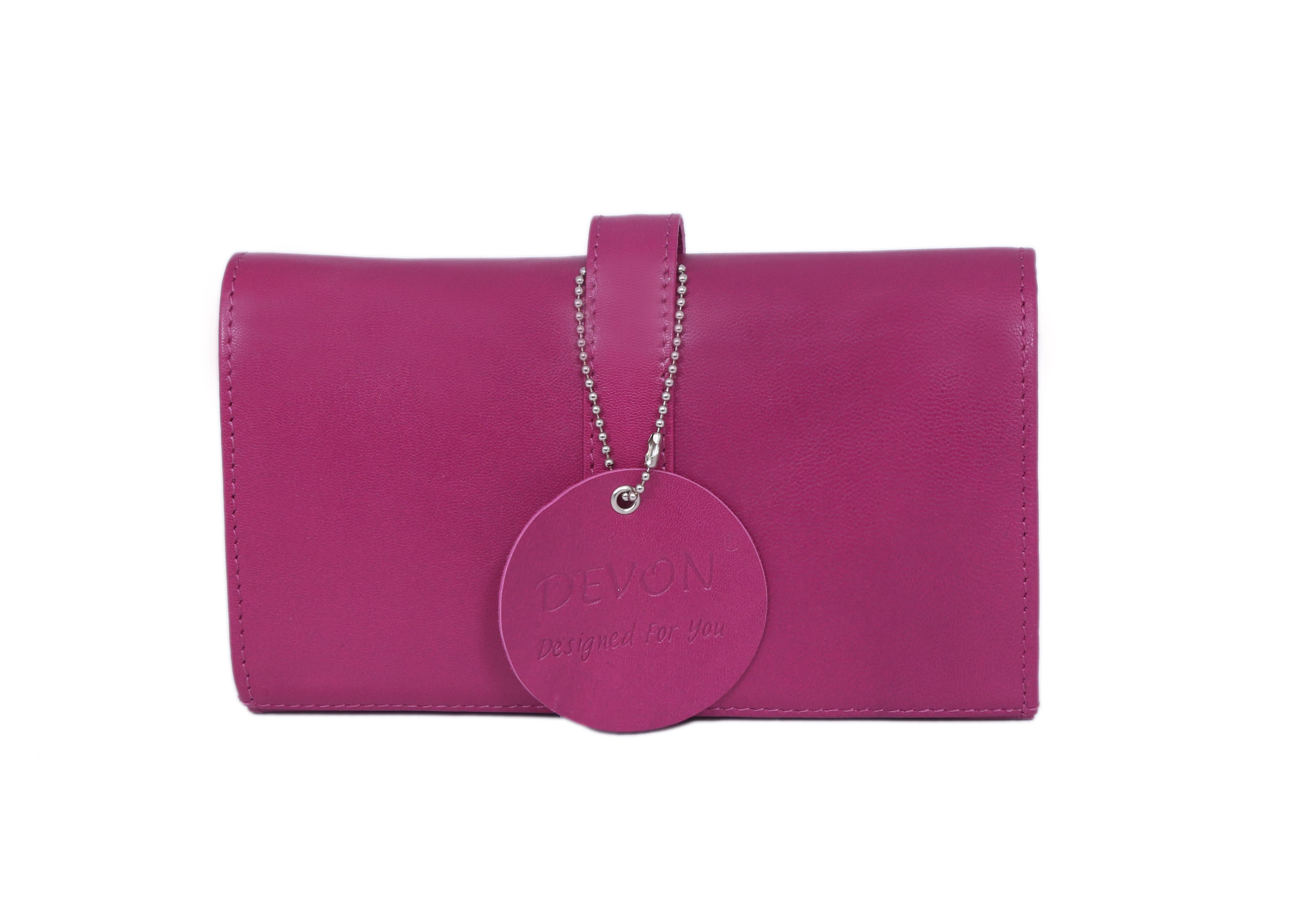 Ladies Flap Closure Threefold Wallet