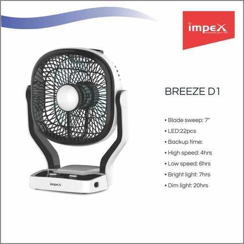 IMPEX Solar Rechargeable Fan (BREEZE D1)