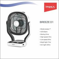 IMPEX Solar Rechargeable Fan (BREEZE D1)