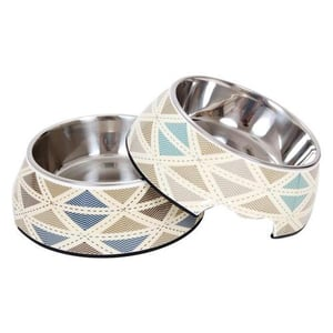 Dog melamine bowl with Removable Stainless Steel Bowl and Non-slip Bottom