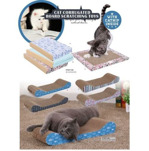 Cat Corrugated Scratcher Board Pad Toys