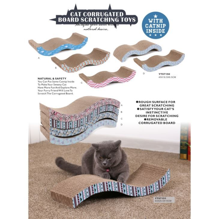 Cat Corrugated Scratcher Board Pad Toys