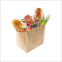 Grocery Paper Bag With Flat Handle