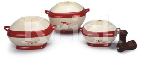 Regular Square Hot Pot / Casserole 3 7 4 Pcs Set