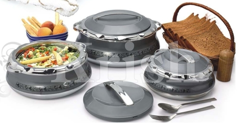 Deluxe Splendor Hot Pot / casserole 3 & 4 Pcs Set