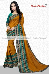 Art Silk Vichitra Print saree