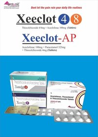Aceclofenac 100mg+ Paracetamol 325mg+ Thiocolchicoside 4mg
