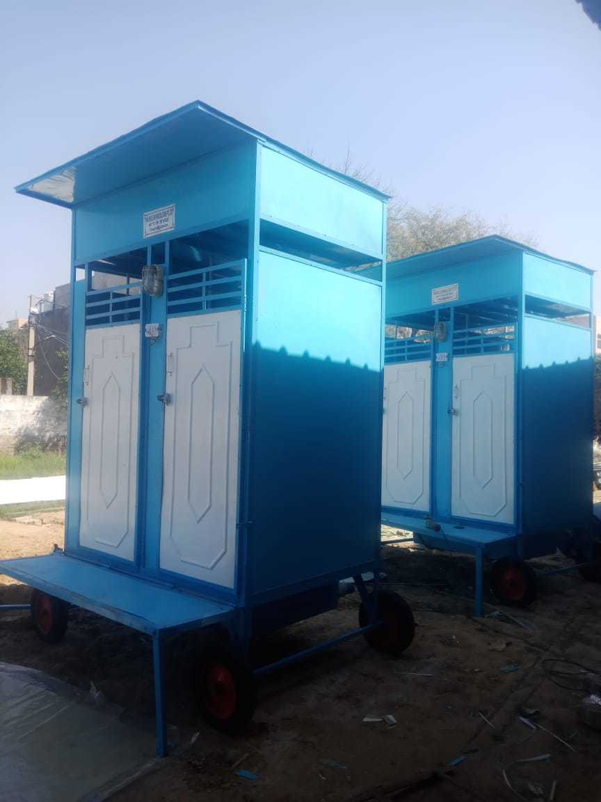 Two Seater Portable Toilet Cabin