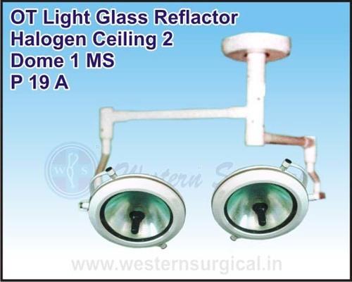 OT Light Glass Reflactor Halogen Ceiling 2 Dome 1 MS