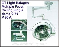 OT Light Halogen Multiple Fecet Ceiling Single dome C 70
