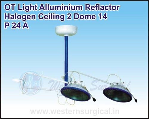 OT Light Alluminium Reflactor Halogen Ceiling 2 Dome 14