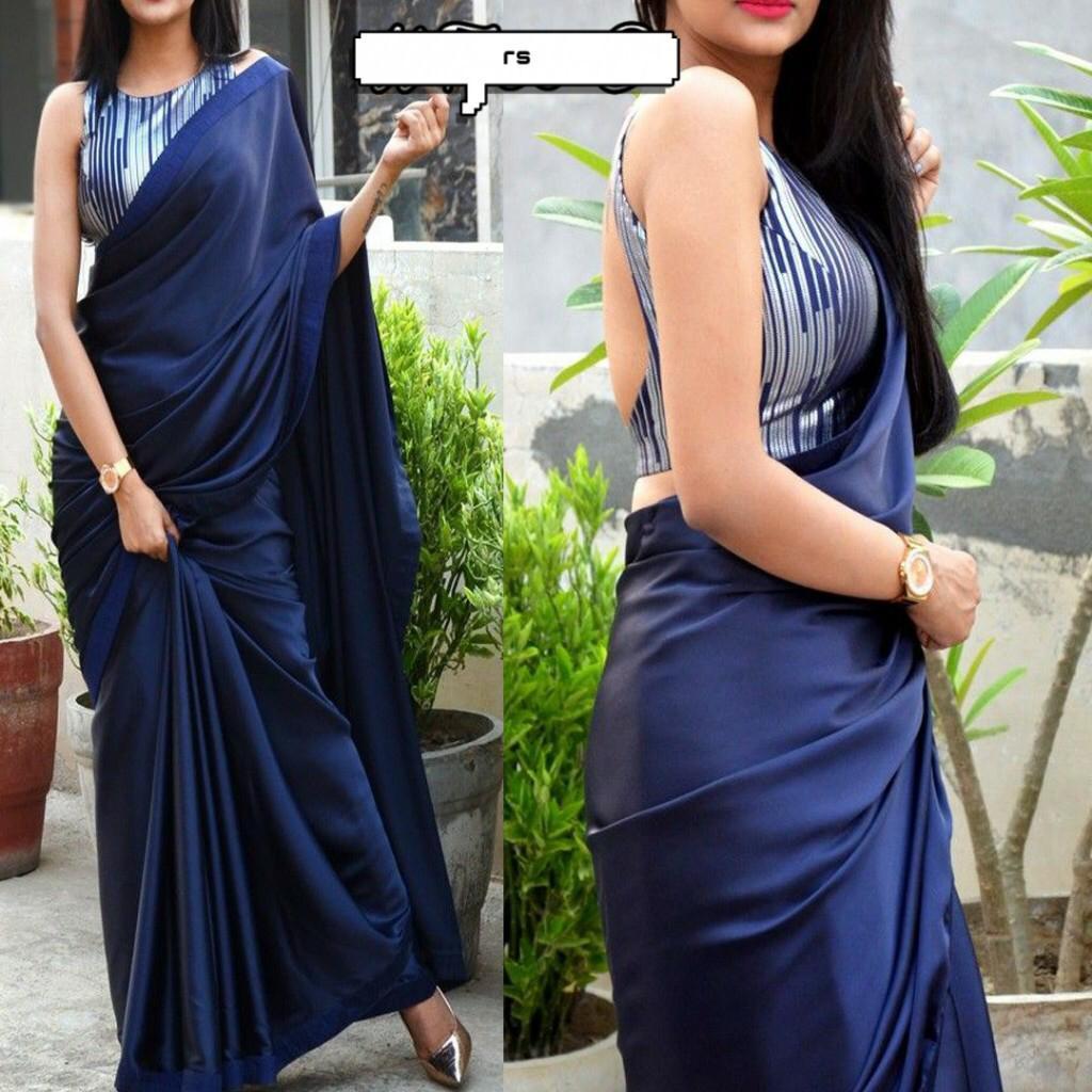 silk saree with Satin border