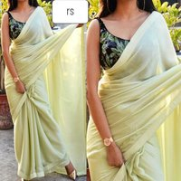 silk saree with Satin border