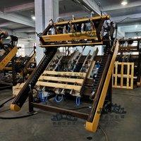 Semi-auto EURO Blocks Wood Pallet Nailing Line