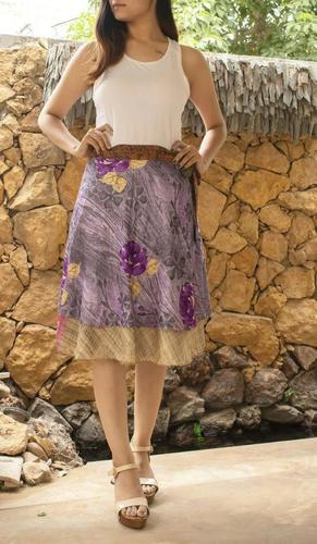 Vintage Casual Silk Skirts
