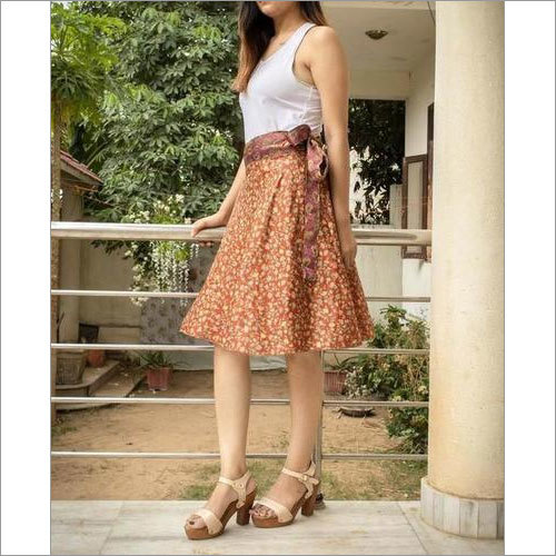 Women Vintage Silk Skirts