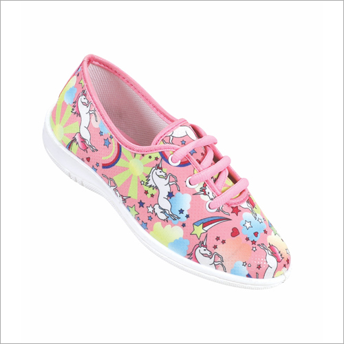 Girls Printed Belly Shoes