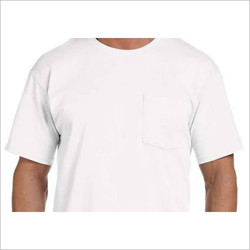 D Pocket Round Neck T Shirts