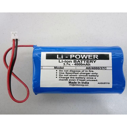 3.7V 4000mAh Li-ion Battery