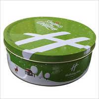 Cake Round Tin Container
