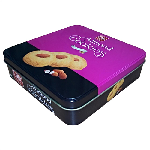 Square Shape Cookie Tin Container