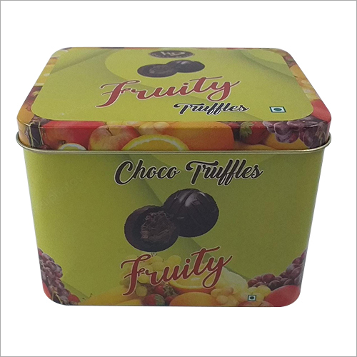 Chocolate Printed Tin Container