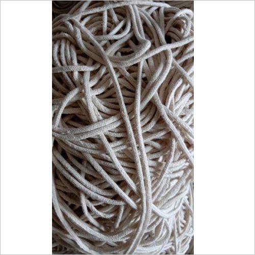 White Braided Cotton Cord