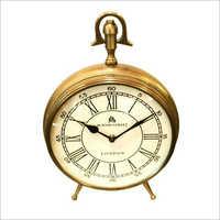 Roman Analog Brass Table Clock