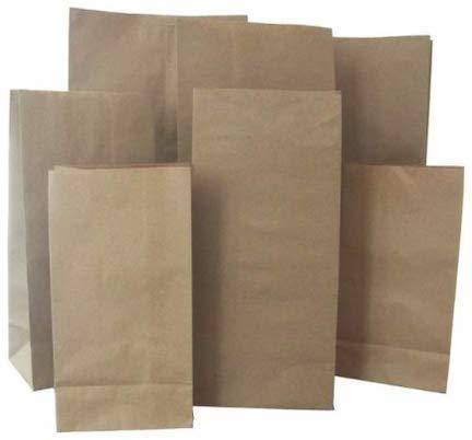 BROWN CRAFT PAPER BAGS FOR GROCERY MEDICAL AND FOOD CARRY