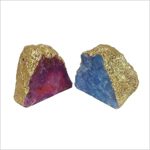 Gold Plated Agate Bookends