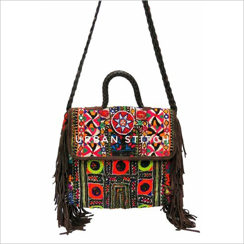 Suede Leather Banjara Messenger Bag