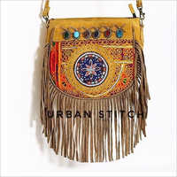 Suede Leather Banjara Crossbody Bag