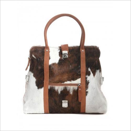 Handmade Hairon Leather Handbag