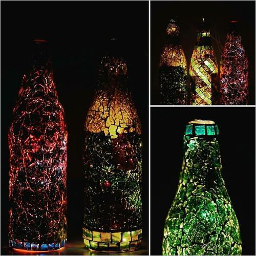Handmade Mosaic Glass Decorative Bottles