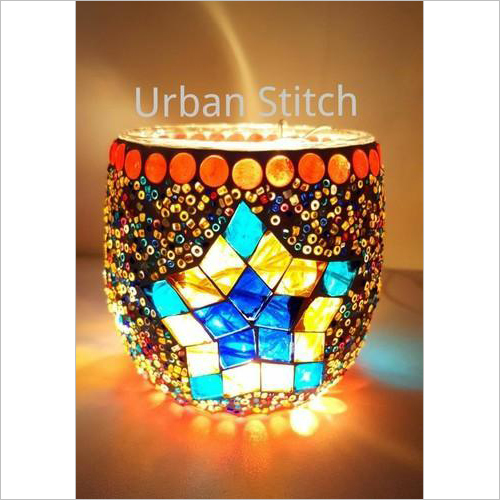 Handmade Mosaic Glass Candle Holders