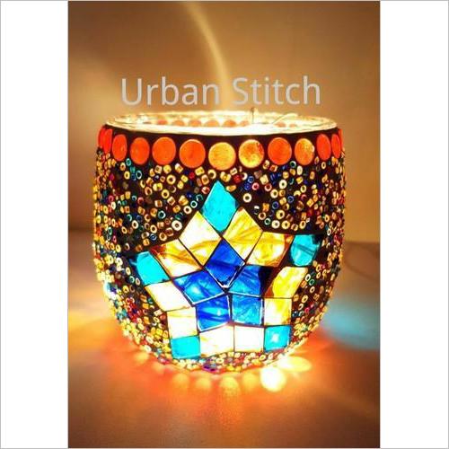 Handmade Mosaic Glass Candle Holders