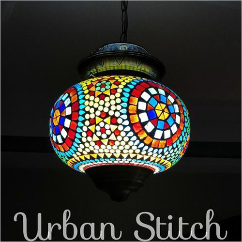 Handmade Mosaic Glass Hanging Lamp Shade