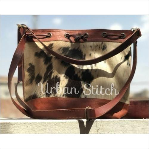 Natural Leather Tote Bag Cum Satchel Bag