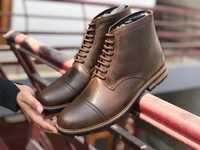 Mens Low Ankle Leather Boots