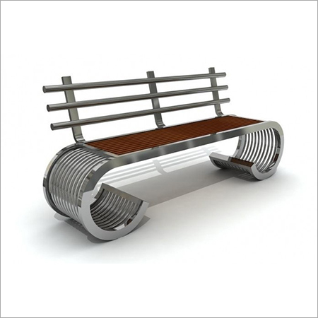 Stainless steel office or park benches
