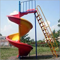 Outdoor Playground Spiral Slide