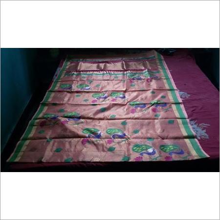 Kota Doria Pure Gold Zari Handloom Work Saree With Tissue