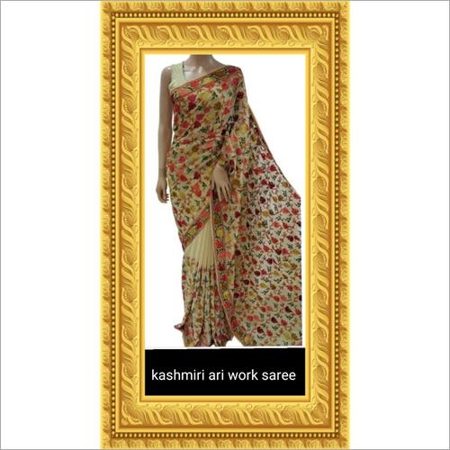 Kashmiri Hand Work Saree