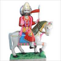 Polished Marble Maharaja Statue