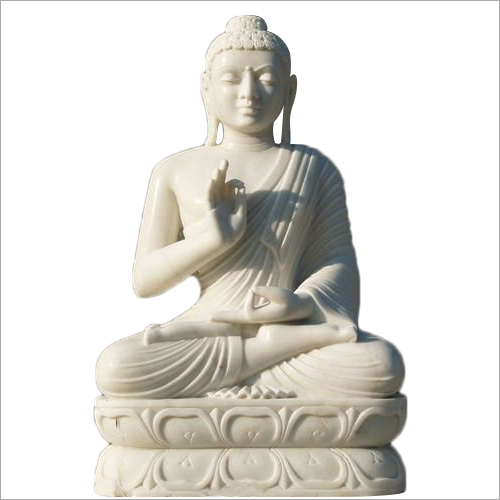 White Marble Lord Buddha Statue