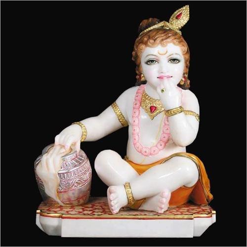 Polished Marble Bala Krishna Statue