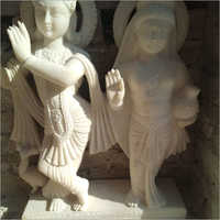 White Marble Lord Radha Krishna Statue